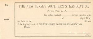 New Jersey Southern Steamboat Co.