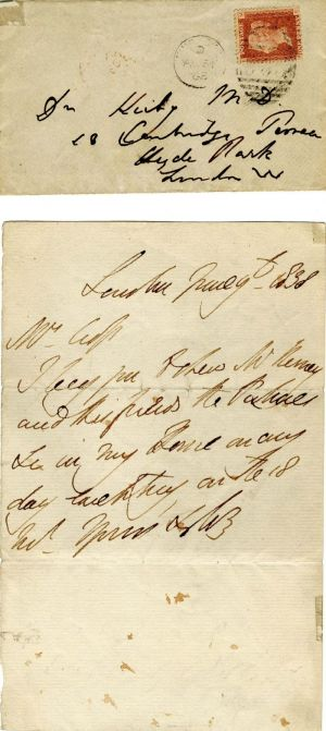 Duke of Wellington Autograph Letter and Cover