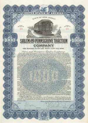 Salem & Pennsgrove Traction Co - Bond