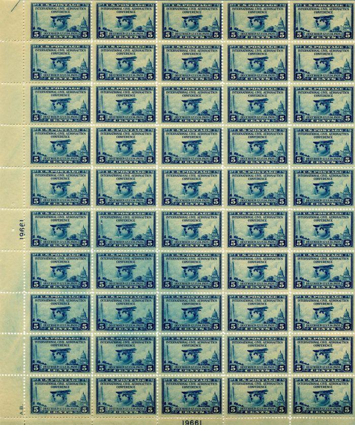 Scott #650 Stamp Sheet