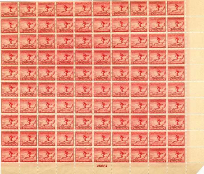 Scott #716 Stamp Sheet