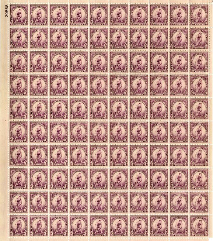 Scott #718 Stamp Sheet