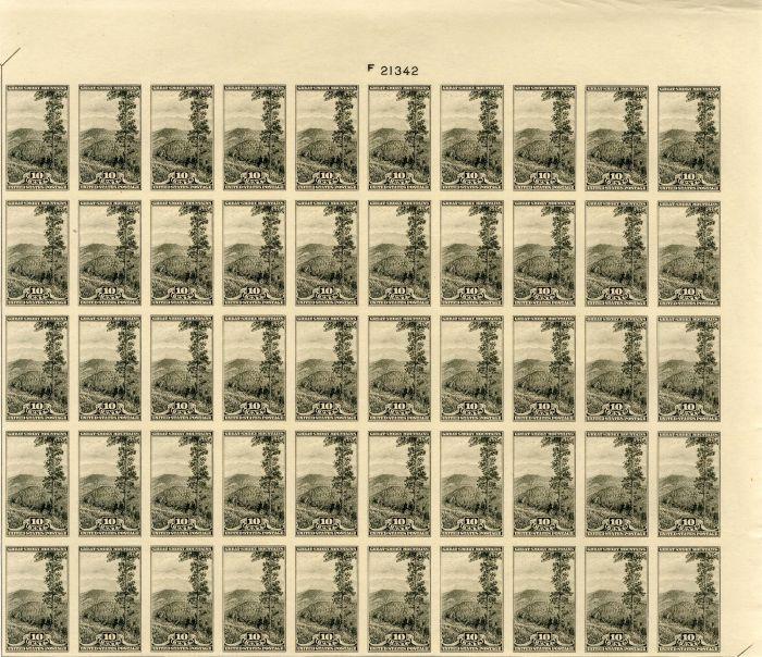 Scott #765 Stamp Sheet