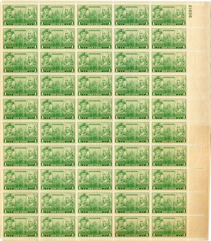 Scott #790 Stamp Sheet