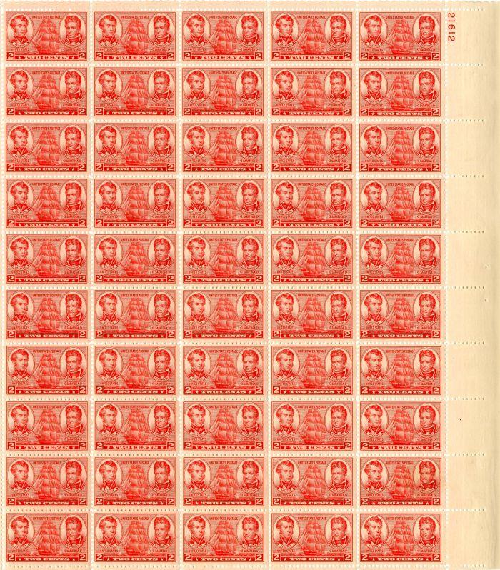 Scott #791 Stamp Sheet