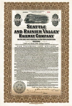 Seattle & Rainier Valley Railway - Bond