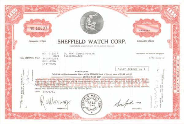 Sheffield Watch Corp