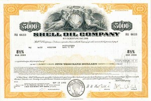 Shell Oil Corp - 50 Pieces - Bond