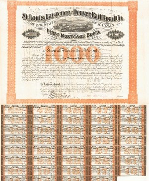St. Louis, Lawrence & Denver Railroad Bond