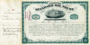 Standard Oil Trust issued to and signed by W. C. Whitney