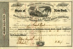 State of New York Cananadaigua and Niagara Falls Railroad Company
