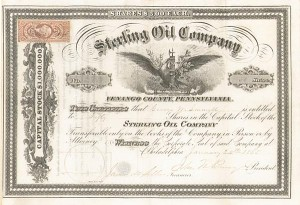Sterling Oil Company - Stock Certificate