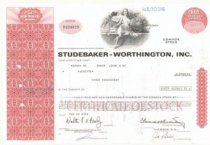 Studebaker-Worthington, Inc - 50 Pieces