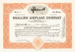 Swallow Airplane Co - SOLD
