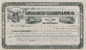 Consolidated Telegraph & News Co. - SOLD