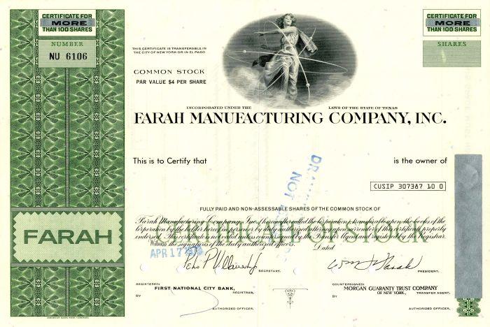 Farah Manufacturing Company, Inc.