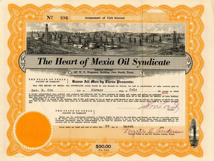 Heart of Mexia Oil Syndicate