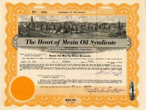 Heart of Mexia Oil Syndicate - SOLD