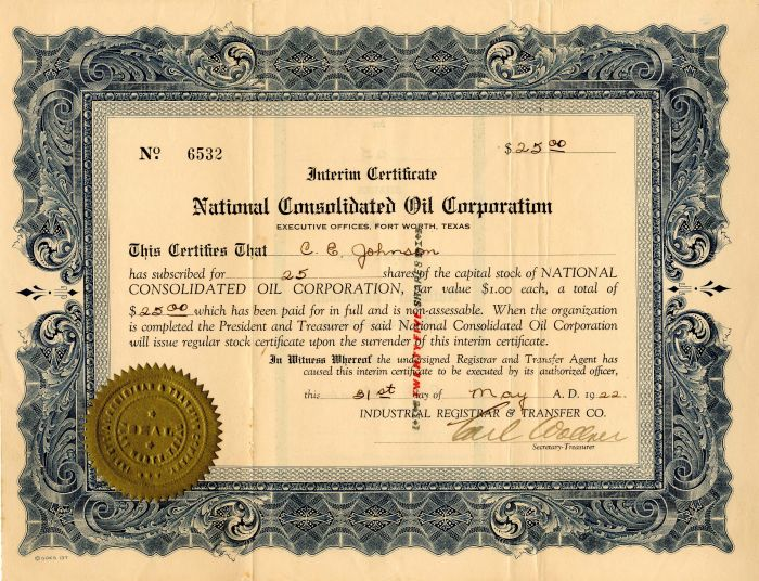 National Consolidated Oil Corporation