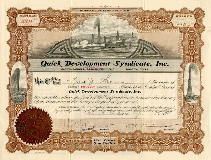Quick Development Syndicate, Inc.