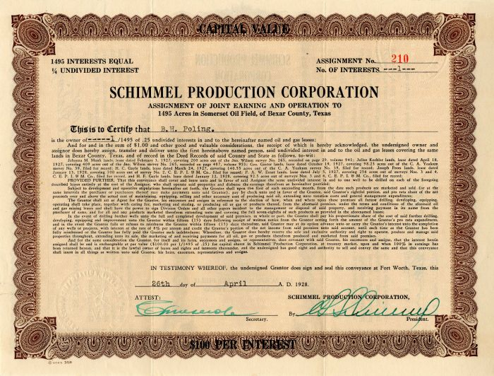 Schimmel Production Corporation