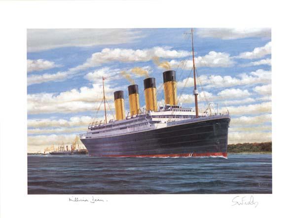 Millvina Dean signed Titanic Print - Survivor of the Titanic