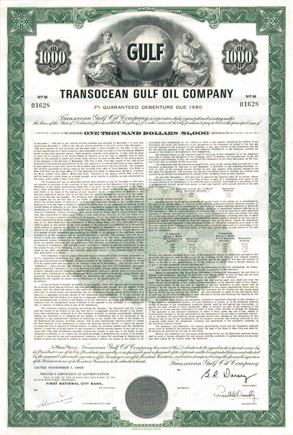 Transocean Gulf Oil Co - Bond