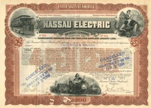 Nassau Electric Railroad Company - $1,000 - Bond
