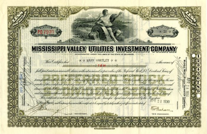 Mississippi Valley Utilities Investment Company