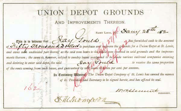 Jay Gould, George Gould - Union Depot Grounds