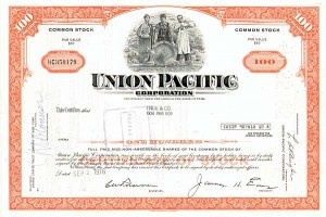 Union Pacific Corp - 50 Pieces - Stock Certificate