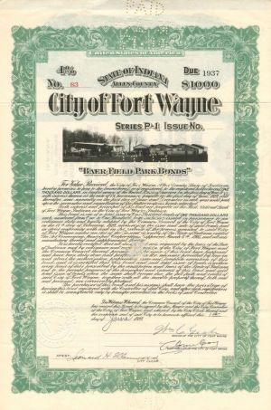 City of Fort Wayne - $1,000 - Bond