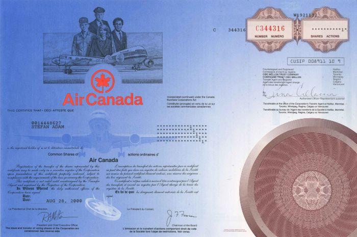 Air Canada - Stock Certificate