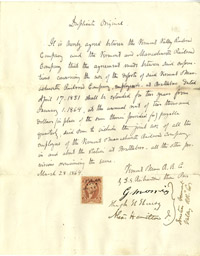 Letter signed by Alexander Hamilton Jr
