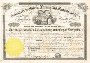 Volunteer Soldiers Family Aid Fund Bond No. 3