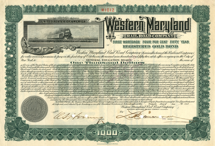 Western Maryland Railroad Company - SOLD