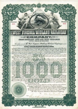 West Virginia Midland Railroad - Bond