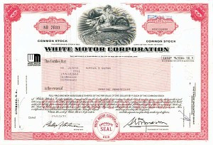 White Motor Corp - 50 Pieces - Stock Certificate