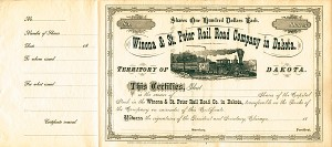 Winona & St. Peter Railroad Company in Dakota