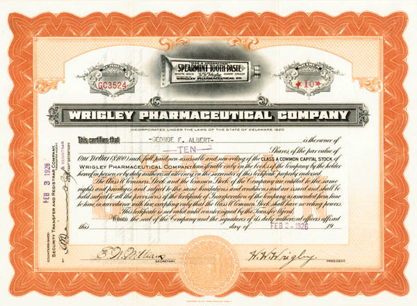 "W.W. Wrigley - ""Not"" the Famous Chewing Gum Magnate"