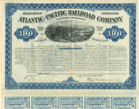 Atlantic and Pacific Railroad Company - $100