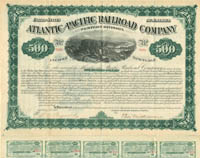 Atlantic and Pacific Railroad Company - $500