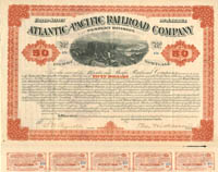 Atlantic and Pacific Railroad Company - $50