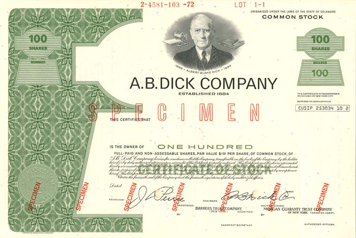 A.B. Dick Company - SOLD