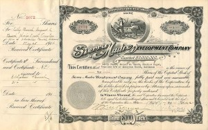 Sierra Madre Development Company signed by August A. Busch Jr.