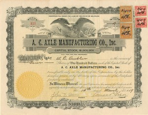 A. C. Axle Manufacturing Co., Inc.