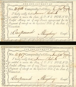 Pair of payment documents signed by A. Kingsbury