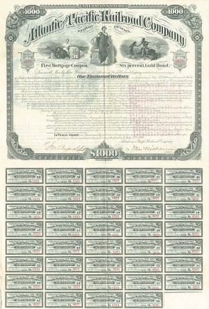$1,000 Atlantic and Pacific Railroad Company