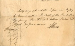 Document signed by Aaron Burr - SOLD