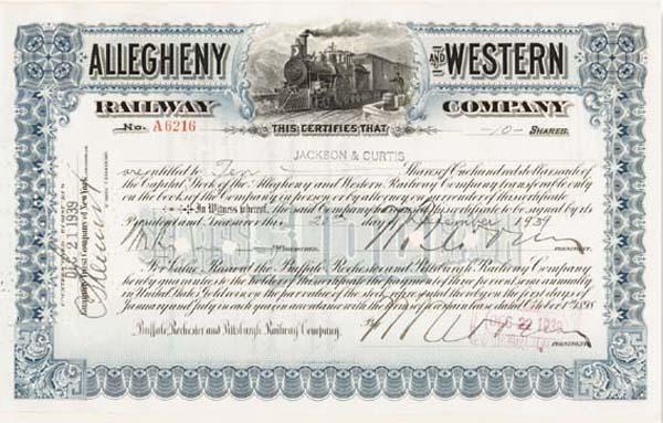 Allegheny & Western Railway Company